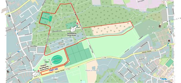 Neue fünf Kilometer Rundstrecke um das Radsportstation