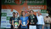 Bei herrlichem Wetter startete die 4. Auflage des AOK Firmenlaufes Bielefeld